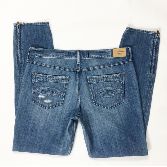 Abercrombie & Fitch Denim - Abercrombie & Fitch Ankle Jeans Womens Distressed